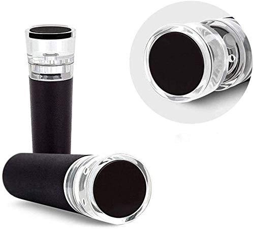 TRYSHA Flaschenverschluss Rotwein Vakuum beibehalten Frischer Flaschenverschluss Erhalter Sealer-Plug-Wein-Stopper (Farbe: Schwarz, Größe: 8x2.5cm) Prosecco Stopper (Color : Black, Size : 8x2.5cm)