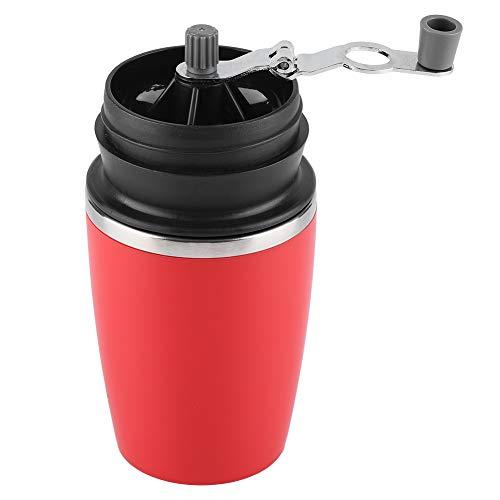 Draagbare handmatige koffiebonenmolen van roestvrij staal bonen, korrel slijpen handgereedschap hand koffiemolen voor outdoor (rood)