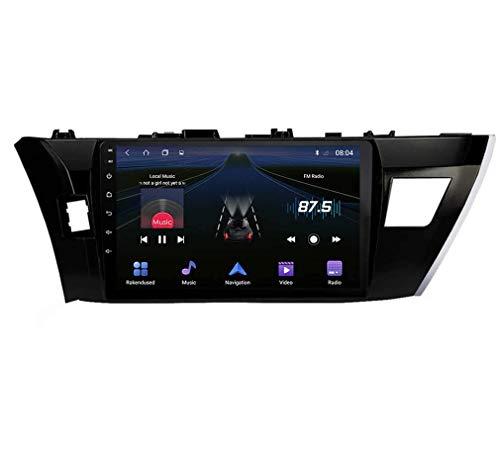 W-bgzsj Coche estéreo Android 9.0 Radio para Toyota Corolla 2014-2016 GPS Navigation 9 Pulgadas HD Touch Screen Head Unit MP5 Multimedia Player Video con 4G WiFi DSP SWC