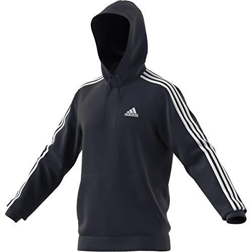 adidas M 3S FT HD Hooded Sweat, Legend Ink/White, L Men