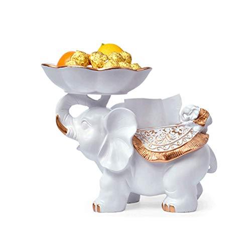NAFE Creatieve Europese stijl woonkamer huisdecoratie fruitplaat, woonkamer TV kast decoratie ornamenten gelukkige olifant huis verplaatsen nieuwe huis cadeau