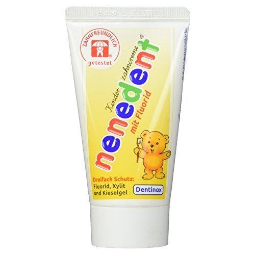 nenedent Kinderzahncreme mit Fluorid, 50 ml [Badartikel] by nenedent