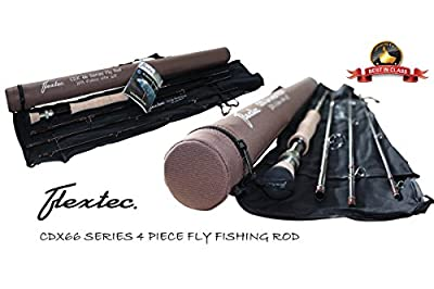 Flextec New Graphite Carbon CDX66 Trout Fly Fishing Rod 10ft #5/6
