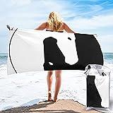 mengmeng Yin Yang Horses 1 toalla de secado rápido para deportes, gimnasio, viajes, yoga, camping, natación, súper absorbente, compacta, ligera toalla de playa