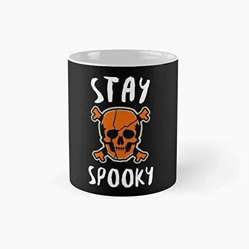 Taza clsica con diseo de calavera de Halloween Stay Spooky Scary | El mejor regalo divertidas tazas de caf de 325 ml