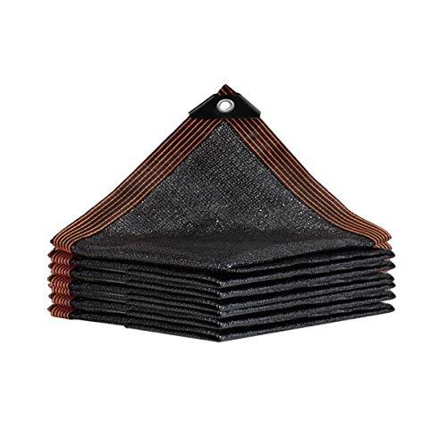 HH-LIFE (3 x 3 m de malla de sol negra 80% protector solar, borde con ojales resistente a los rayos UV, tela verde para invernadero, cobertizo de estacionamiento, jardín o perrera