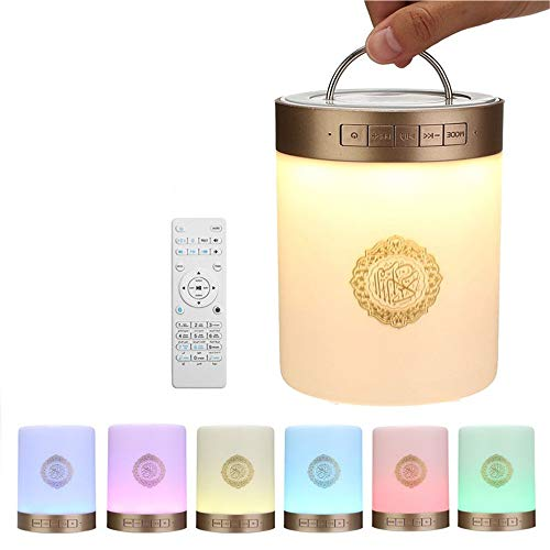 YSYDE Quran-Noten-Lampen-tragbarer Lautsprecher, geführtes Noten-Nachtlicht, tragbarer drahtloser Bluetooth-Sprecher, Nachtlicht-Sprecher-Nachttisch-Tischlampe im Freien