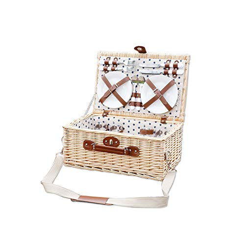 ZHANG HUA-tafellamp Z-H picknickmand met deksel van rotan, draagbaar, multifunctioneel, draagbaar, kookgerei buiten