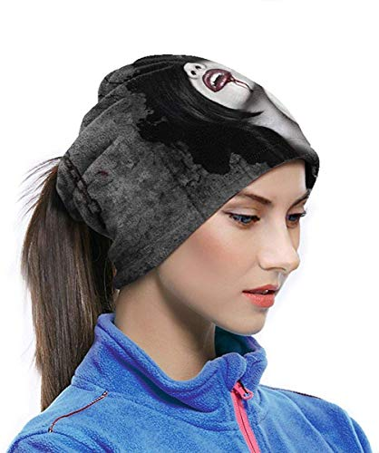 Emonye Neck Gaiter Warmer Windproof Mask Dust - Free UV Face Mask - Dark Fantasy Gothic Women Vampires Blood Face