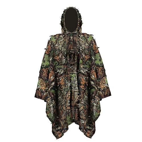 DierCosy Tools Ghillie Suit Stealth Sniper Set 3D-Camouflage Cape Umhang Dschungel für Outdoor Weihnachtsdekoration