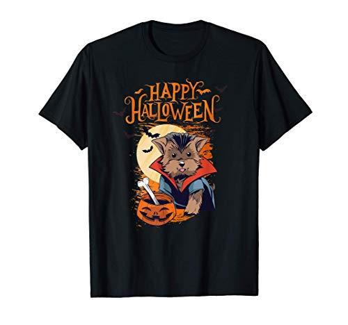 Feliz Halloween Disfraz de perro Yorkshire Terrier Camiseta