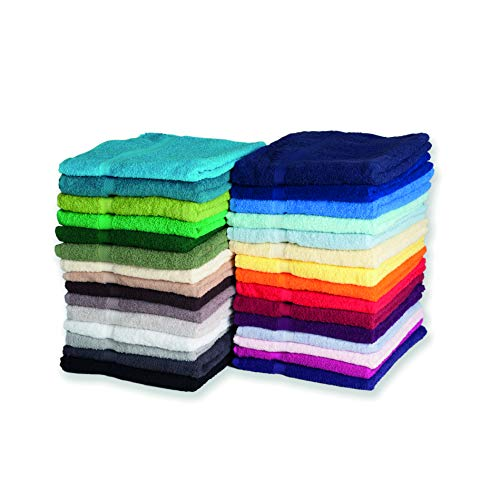 Nashville print factory Hochwertiges 550g/m² Luxus Duschtuch Bestickt mit Namen oder Text personalisiert Wunschstickerei (4 - Bright Green - Hellgrün)