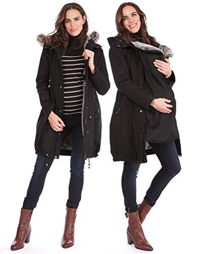 Seraphine Women's 3 in 1 Winter Maternity Parka Size 14 Black
