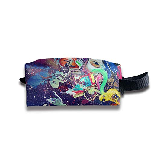 Women Ladies Storage Bag Clutch Bag Daily Use Cash, Multipurpose Travel Makeup Train Case Holder Luggage Pouch Large Space Zipper Pens Pencil Case - Psychedelic Trippy Astronaut Space