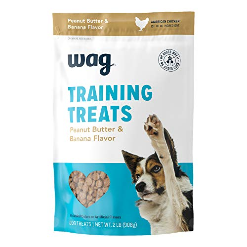 Amazon Brand - Wag Peanut Butter & Banana Flavor Training Treats, 2 pound(pack of 1)