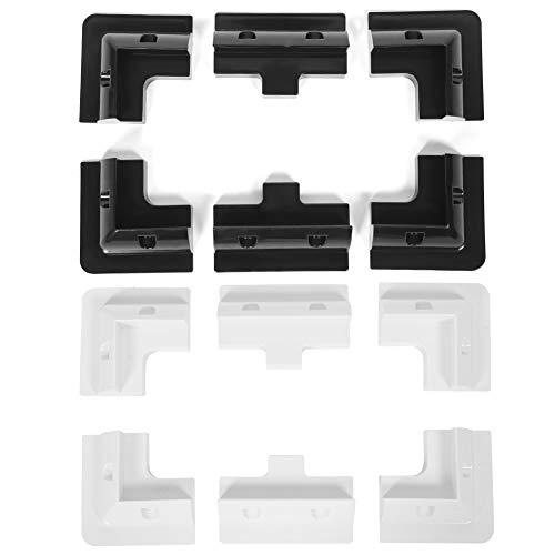 Solar Panel Brackets, ABS Solar Panel Mounting Brackets 6 Drill-Free Corner Bracket Support Kit for RV Yacht Caravan(White)
