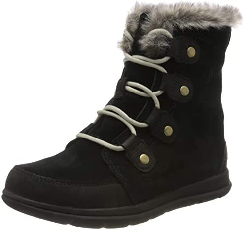 Sorel Women s Leather and Suede Snow Boot Black Black Dark Stone 7 5 product image