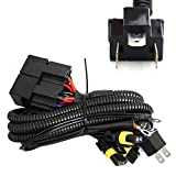 iJDMTOY Headlight High/Low Conversion Relay Wire Harness Compatible With Original H4 Headl...