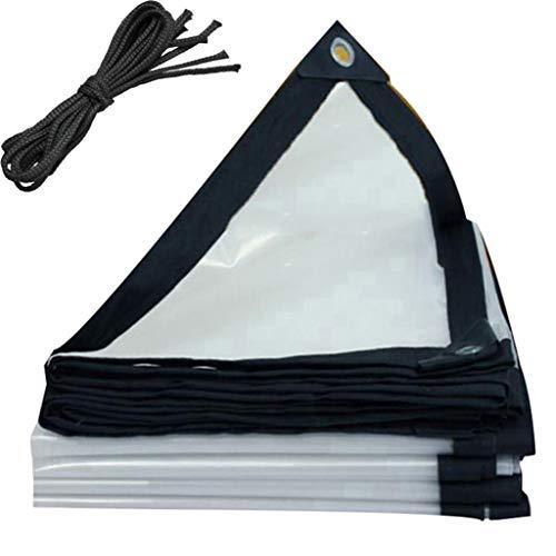 QI-CHE-YI Transparente Dickes Tuch regendicht, wasserdichtes Tuch, Kunststoff-Tuch REGT Abdeckplane, Isolierung Tuch, verwendete für Dach, Camping, Fenster,3x4m