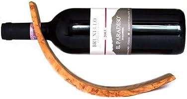 Olive Wood Wine Bottle Holder - Handmade in Italy