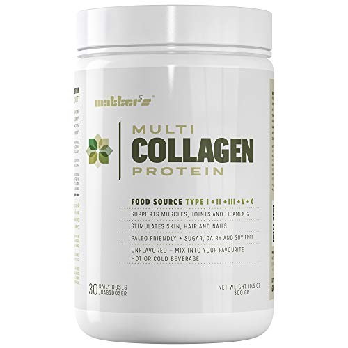 Multi Collagen Protein - 4 Food Based Collagen Sources - Five Collagen Types - Grass-Fed, Free-Range, Wild-Caught - Supports Joints, Skin and Nails - 300 G - 30 Servings