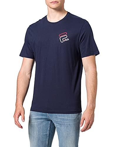 Fila JANTO Graphic Camiseta, Black Iris, M para Hombre