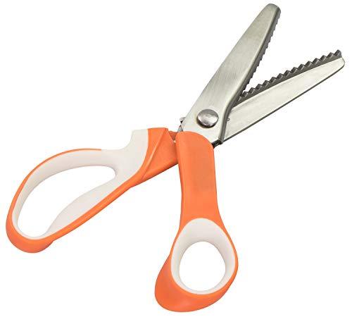 Fai da te forbici per Zig Zag modello–Orange Acciaio inox 23x 9x 2cm–Zacke Forbici per bambini e adulti–Grins Card