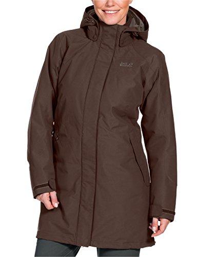 Jack Wolfskin Damen 3-in-1 Mantel Ottawa Coat, Mocca, M, 1100923-5200003