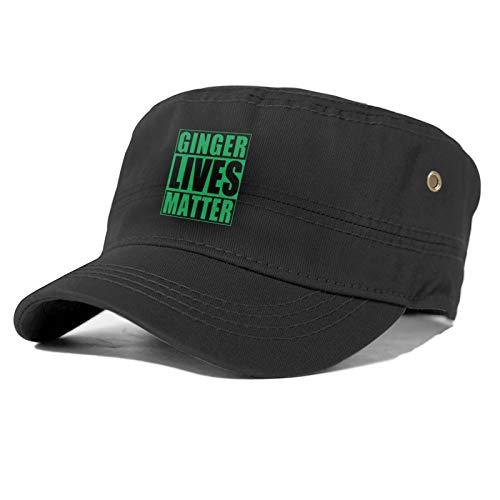 St Patrick's Day Ginger Lives Matter Unisex Sombrero de béisbol de cuatro estaciones Confort Sombrero de béisbol Unisex No es fácil de distorsionar.