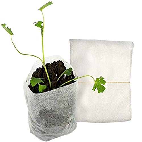 GFGHH 100pcs Non-Woven Seedling Bag Planting Bag Nutrition Bag Gardening Supplies