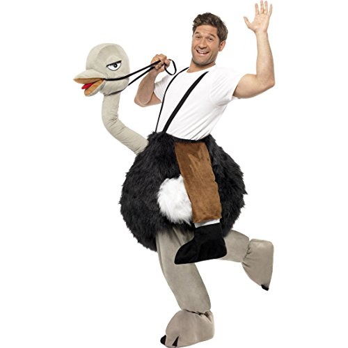 Amakando Costume D'Autruche avec Bonhomme Rigolo Déguisement Oiseau Soirée Fête Carnaval