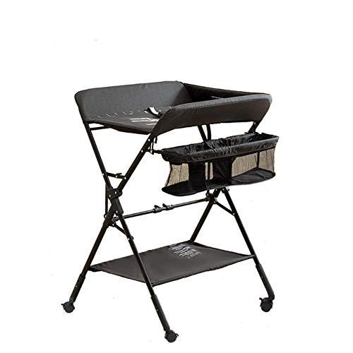 Baby veranderen tafel multifunctionele massage behandeling luier tafel pasgeboren baby veranderen kleding tafel vouwen wieg zorg badstation verpleegkundige tafel 3-speed verstelbare hoogte met universele wh