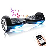 TOEU Hoverboard, 6.5 Zoll Self Balance Scooter mit LED Lights Elektro Scooter E-Skateboard (White)