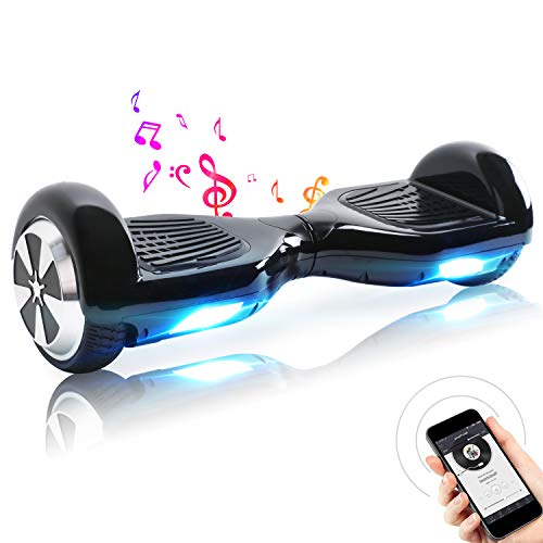 TOEU Hoverboard, 6.5 Zoll Self Balance Scooter mit LED Lights Elektro Scooter E-Skateboard (White)*