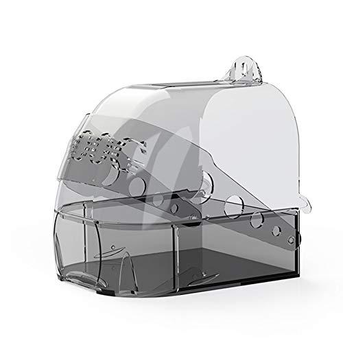 WLDOCA Animal Bañera Pajaros, montado en la Pared Externa Sala de baño para pájaros, pájaro Bañera Cubierta Fuentes de la Ducha, la Actividad Multifuncional Baño