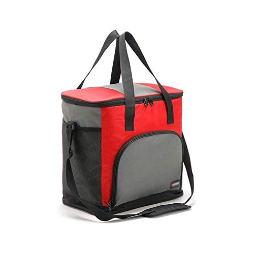 Sdesign Extra Large 25 Litre Insulated Cool Bag, Collapsible Drink or Food Storage for Picnic, Camping, Festivals and Outdoor, or for Home (Color : Red)