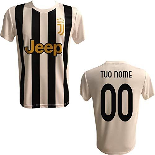Maglia Replica Calcio BIANCONERA Home Ufficiale Autorizzata Nome Numero Personalizzata Personalizzabile F.C. Juv JUVENTU 2020 Ronaldo MORATA Dybala DELIGT BONUCCI Adulto Bambino