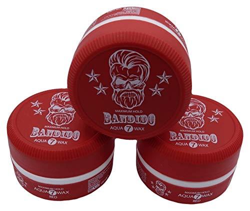 Bandido Aqua Hair Wax Nr.1-8 Matt Fiber Haarwachs Haar Styling Wachs Herren Haargel 150ml Gel Wax (3x 150ml, Nr.7)