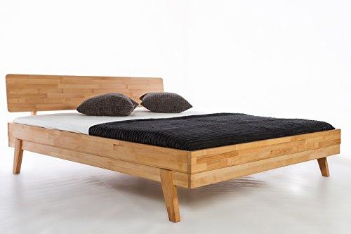 Lettino in legno massiccio Milano in faggio massiccio, letto matrimoniale, letto in legno di faggio massiccio, disponibile in confezione originale