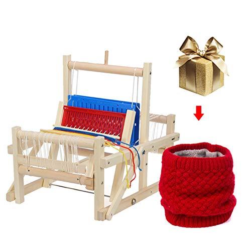 手織り機 編み機 卓上手織機 手編みの機械 木製 糸付き 扱いやすい 簡単 編む織機キット 編む硬質ヘルド織機用キッズ子供初心者