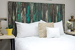 Industrial Mix Headboard King Size, Hanger Style, Handcrafted. Mounts on Wall. Easy Installation.