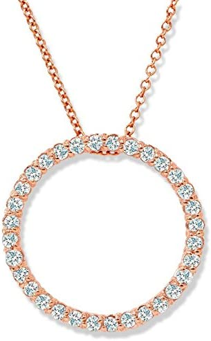 1 2ct Limited price Circle Diamond 14K Pendant Gold Rose NEW before selling