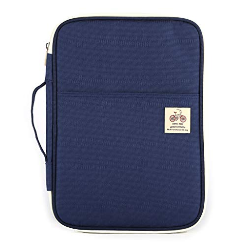 ZZALLL A4 Document Laptop Handbag Sleeve Bag Case for - Dark Blue