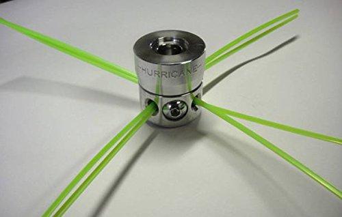 Universal-Kopf für Motorsense aus Aluminium, mit seitlichen Schrauben.
