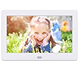 Digital Photo Frame 7 Inch, Rokurokuroku Digital Picture Frame with 1280x800 IPS Screen Photo/Music/Video Player Calendar Remote Control Clock Auto On/Off Timer, Support USB and SD Card