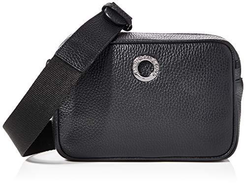 Mandarina Duck Damen Mellow Leather Kuriertasche, Schwarz (Nero), 6x12x18 Centimeters