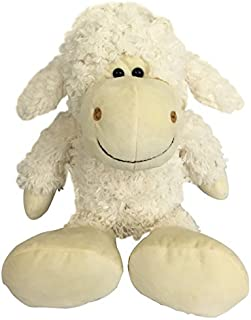 Checkered Fun Lamb Stuffed Animal - Stuffed Sheep - Plush Toys - Great For Sheep Theme Nursery Decor - Cute Fluffy White Sheep Plush Lamb