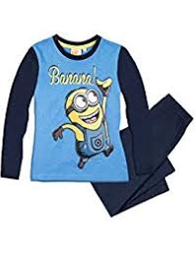 Minions Pyjama Schlafanzug Jungen Blau 152