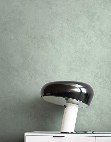 NEWROOM Tapete Grün Vliestapete Beton - Betonoptik Modern Grau Putzoptik Struktur Uni Industrial Einfarbig Schlicht inkl. Tapezier-Ratgeber