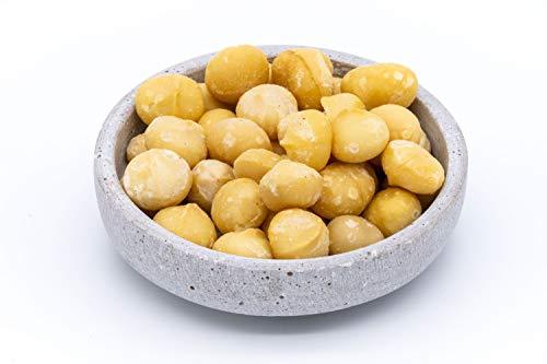 Nueces de macadamia gigantes orgánicas - 480g - Extra grande - Granos enteros - Alimentos crudos - Vegano